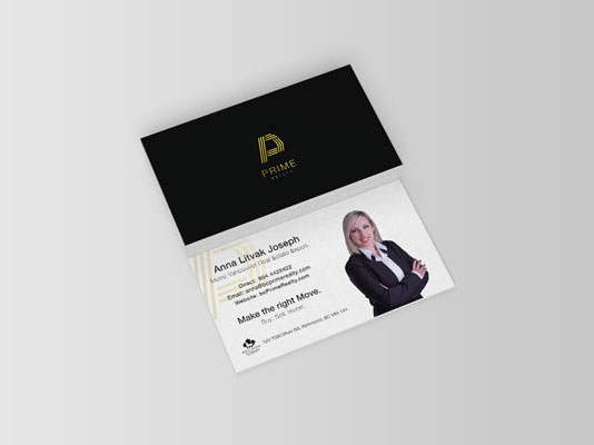 Real Estate luxury women business card